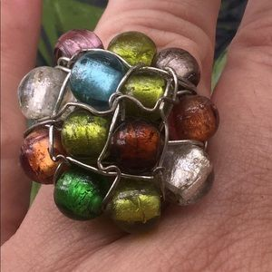 3/$9🔴 Glass Bead Wire Ring